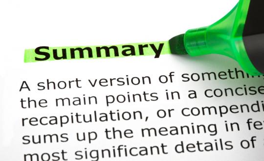 Summarize Spoken Text Tips